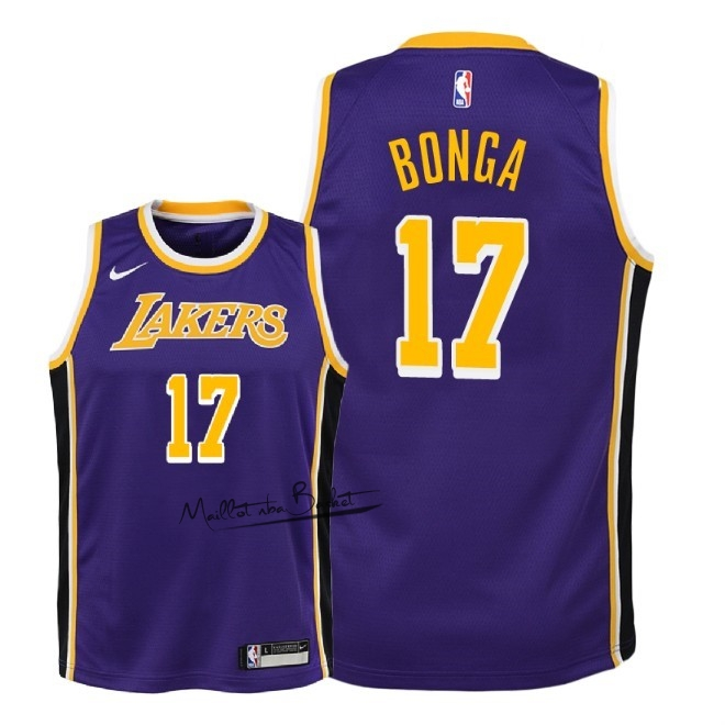 Maillot NBA Enfant Los Angeles Lakers NO.17 Isaac Bonga Pourpre Statement 2018-19