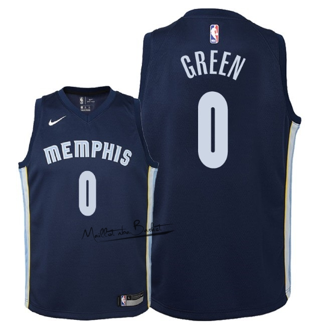 Maillot NBA Enfant Memphis Grizzlies NO.0 JaMychal Green Marine Icon 2018