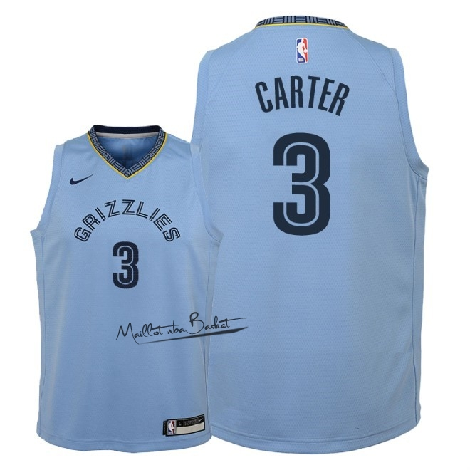 Maillot NBA Enfant Memphis Grizzlies NO.3 Jevon Carter Bleu Statement 2018-19