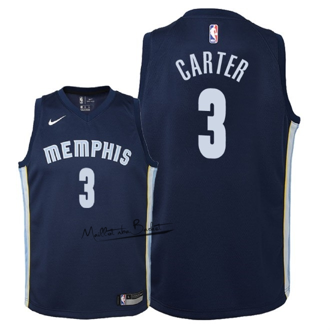 Maillot NBA Enfant Memphis Grizzlies NO.3 Jevon Carter Marine Icon 2018
