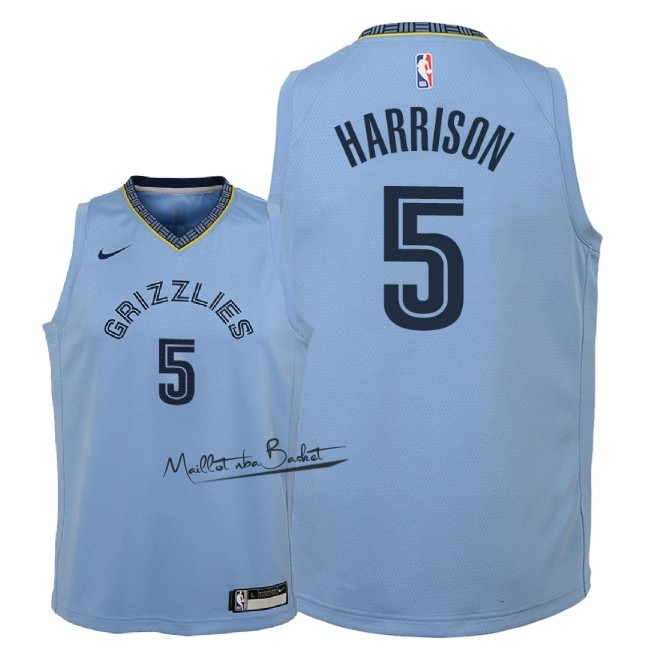 Maillot NBA Enfant Memphis Grizzlies NO.5 Andrew Harrison Bleu Statement 2018-19