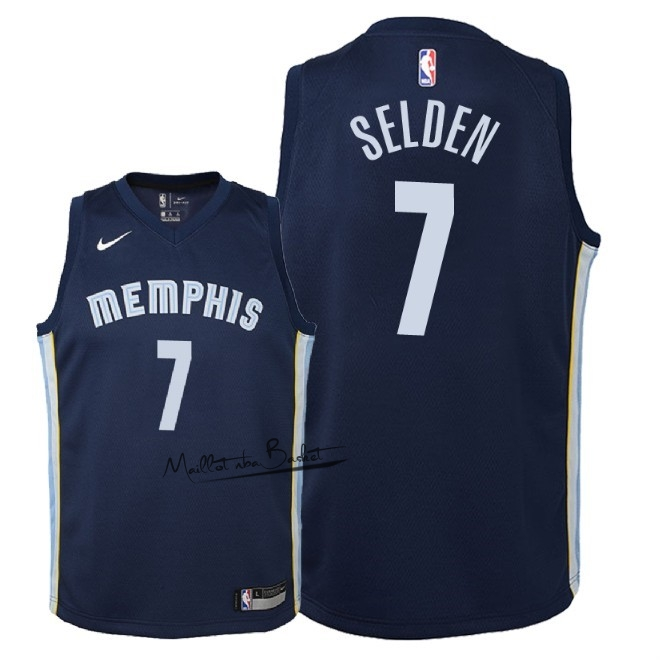 Maillot NBA Enfant Memphis Grizzlies NO.7 Wayne Selden Marine Icon 2018