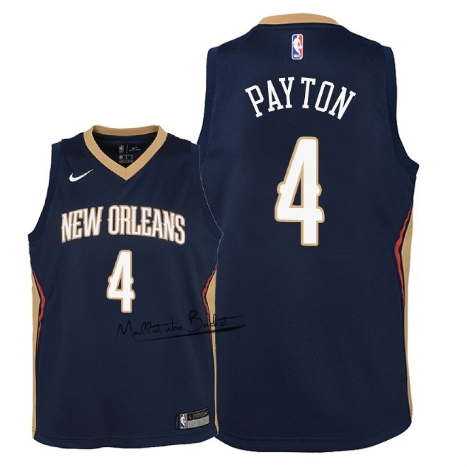 Maillot NBA Enfant New Orleans Pelicans NO.4 Elfrid Payton Marine Icon 2018