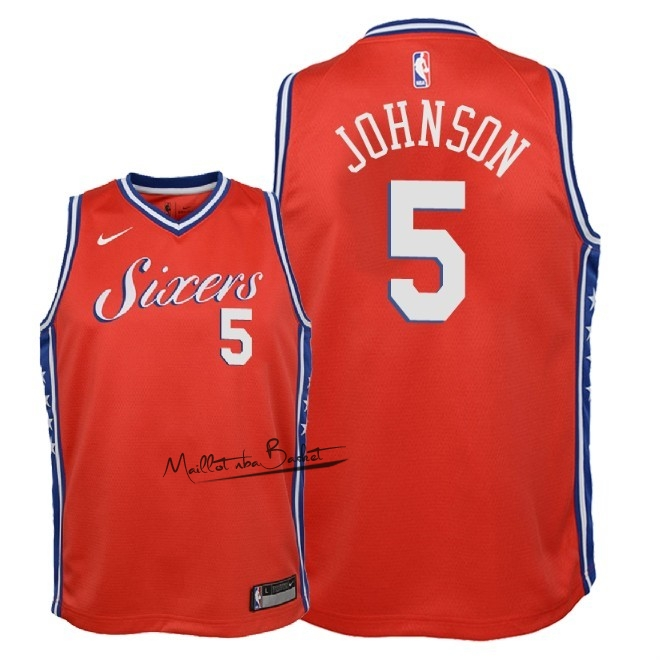 Maillot NBA Enfant Philadelphia Sixers NO.5 Amir Johnson Rouge Statement 2018