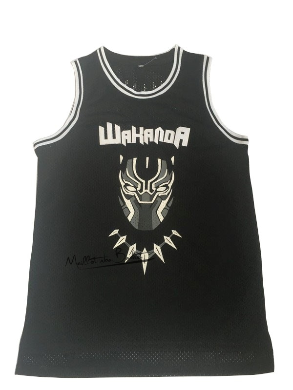 Maillot NBA Film Basket-Ball Black Panther NO.1 Noir