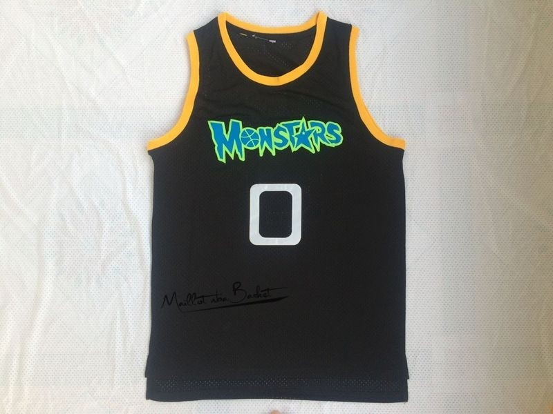Maillot NBA Film Basket-Ball Monstars NO.0 Alien Noir