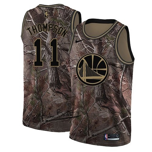 Maillot NBA Golden State Warriors NO.11 Klay Thompson Camo Swingman Collection Realtree 2018