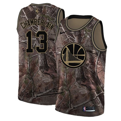 Maillot NBA Golden State Warriors NO.13 Wilt Chamberlain Camo Swingman Collection Realtree 2018