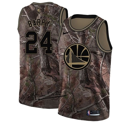 Maillot NBA Golden State Warriors NO.24 Rick Barry Camo Swingman Collection Realtree 2018