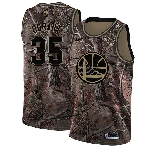 Maillot NBA Golden State Warriors NO.35 Kevin Durant Camo Swingman Collection Realtree 2018