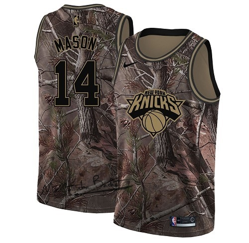 Maillot NBA New York Knicks NO.14 Anthony Mason Camo Swingman Collection Realtree 2018