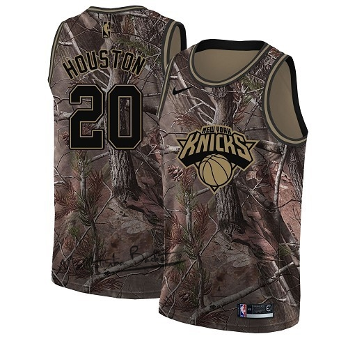 Maillot NBA New York Knicks NO.20 Allan Houston Camo Swingman Collection Realtree 2018