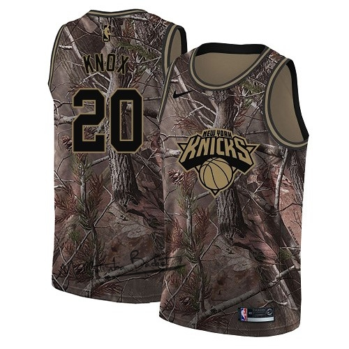 Maillot NBA New York Knicks NO.20 Kevin Knox Camo Swingman Collection Realtree 2018