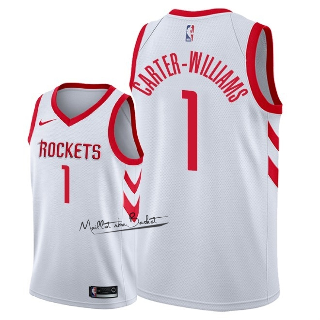 Maillot NBA Nike Houston Rockets NO.1 Michael Carter Williams Blanc Association 2018
