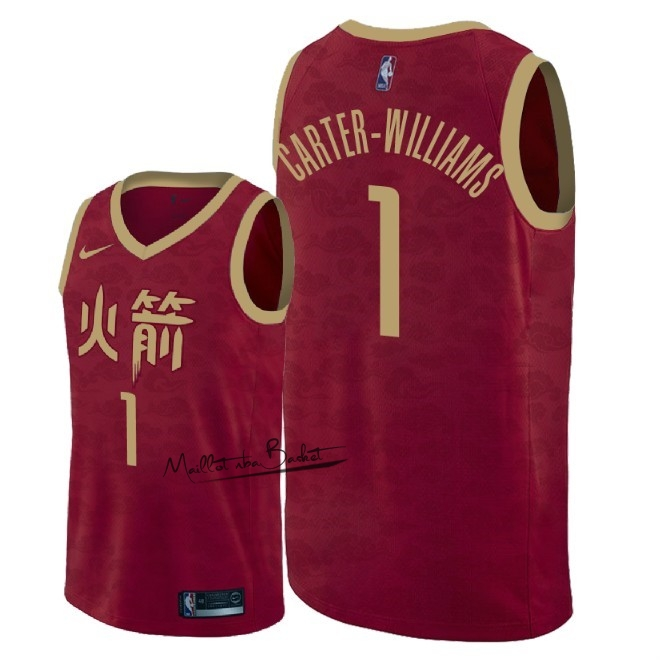Maillot NBA Nike Houston Rockets NO.1 Michael Carter Williams Nike Rouge Ville 2018-19