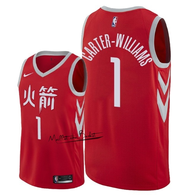 Maillot NBA Nike Houston Rockets NO.1 Michael Carter Williams Nike Rouge Ville 2018