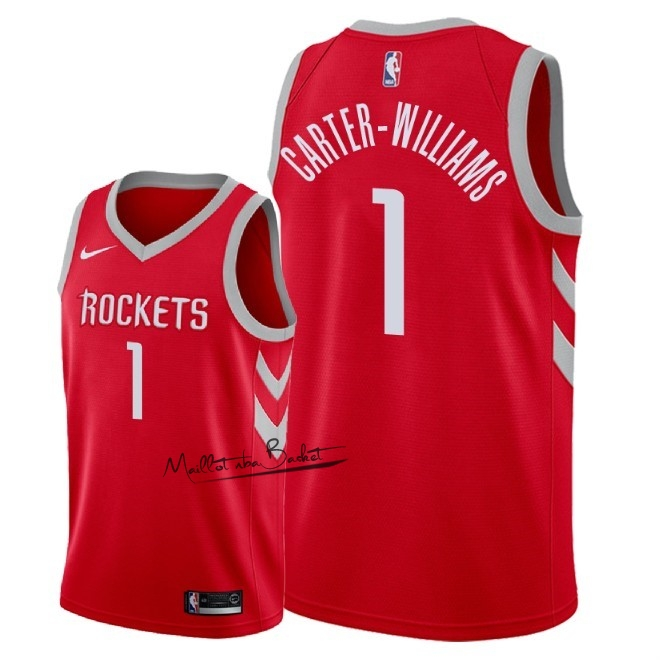 Maillot NBA Nike Houston Rockets NO.1 Michael Carter Williams Rouge Icon 2018