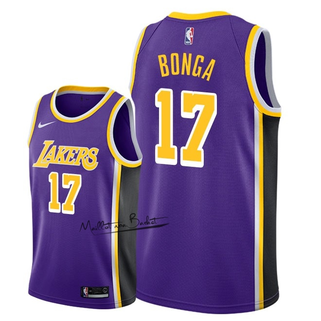 Maillot NBA Nike Los Angeles Lakers NO.17 Isaac Bonga Pourpre Statement 2018-19
