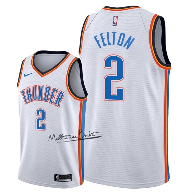 Maillot NBA Nike Oklahoma City Thunder NO.2 Raymond Felton Blanc Association 2018