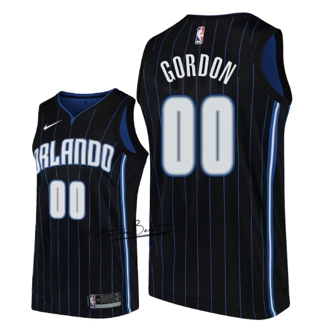 Maillot NBA Nike Orlando Magic NO.0 Aaron Gordon Noir Statement 2018