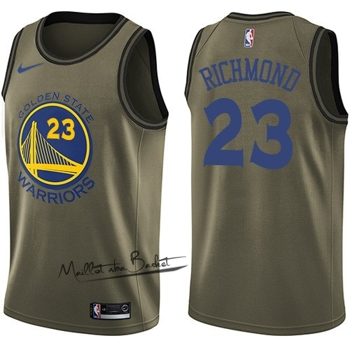 Maillot NBA Service De Salut Golden State Warriors NO.23 Mitch Richmond Nike Armée verte 2018