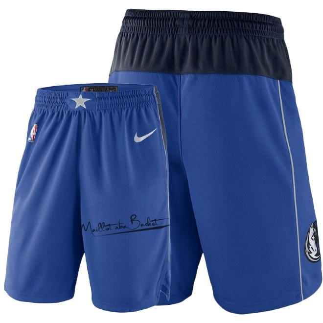 Short Basket Dallas Mavericks Nike Bleu 2018
