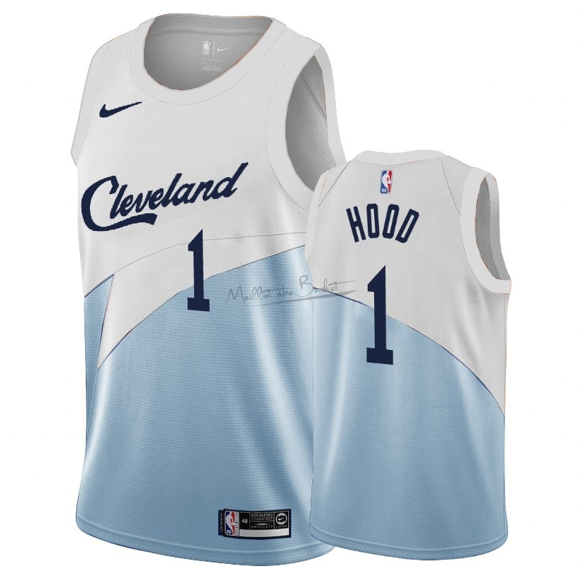 Maillot Earned Edition Cleveland Cavaliers NO.1 Rodney Hood Bleu 2018-19