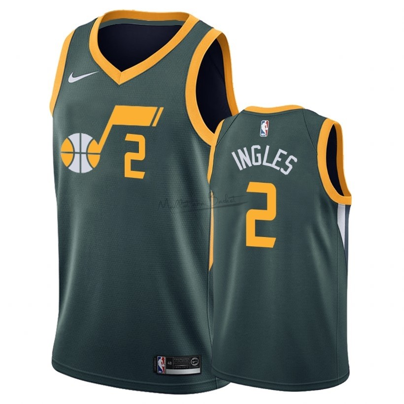 Maillot Earned Edition Utah Jazz NO.2 Joe ngles Vert 2018-19