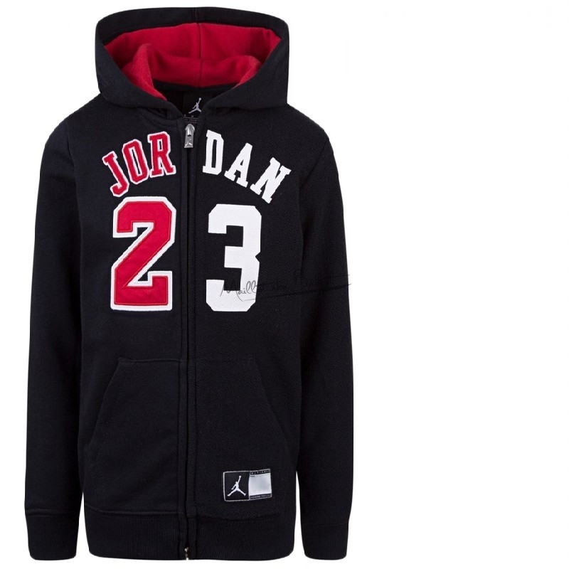Hoodies NBA Enfant Chicago Bulls NO.23 Michael Jordan Noir