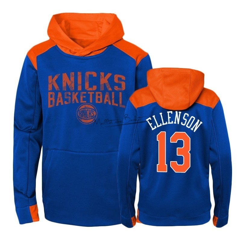 Hoodies NBA Enfant New York Knicks NO.13 Henry Ellenson Bleu