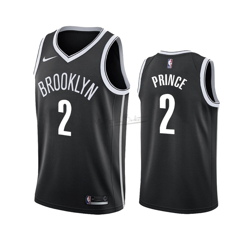 Maillot NBA Nike Brooklyn Nets NO.2 Taurean Prince Noir Icon 2019-20