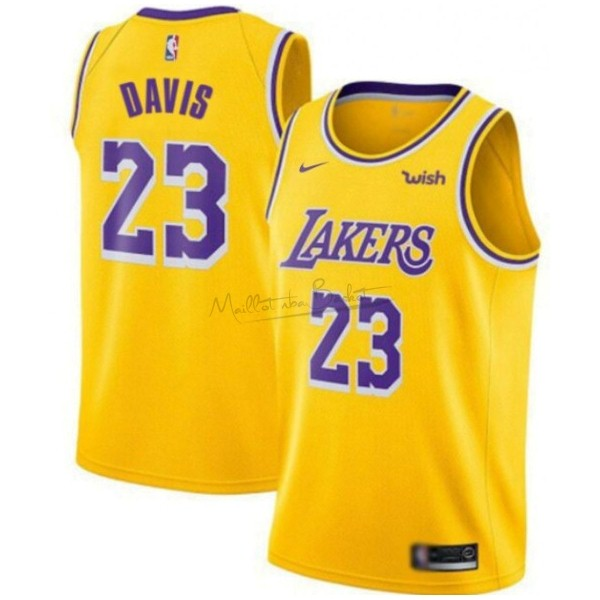 Maillot NBA Nike Los Angeles Lakers NO.23 Anthony Davis Jaune 2019-20