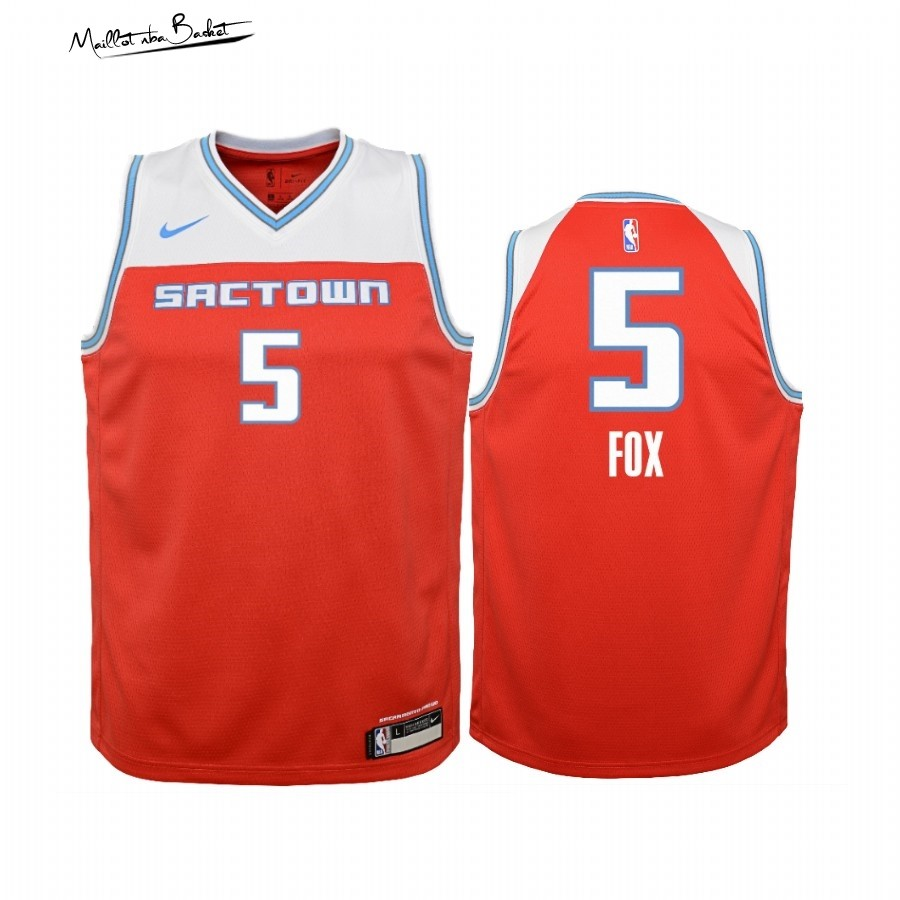 Maillot NBA Enfant Sacramento Kings NO.5 Adam Fox Nike Rouge Ville 2019-20