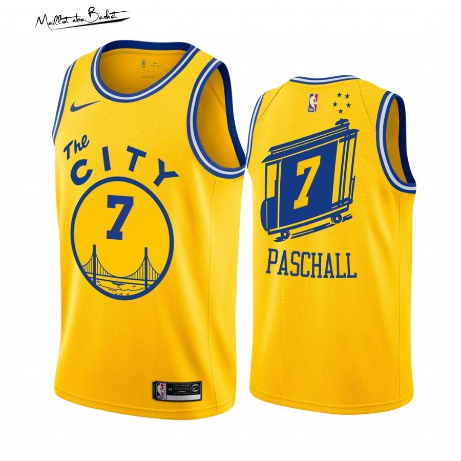 Maillot NBA Golden State Warriors NO.7 Eric Paschall Or Hardwood Classics