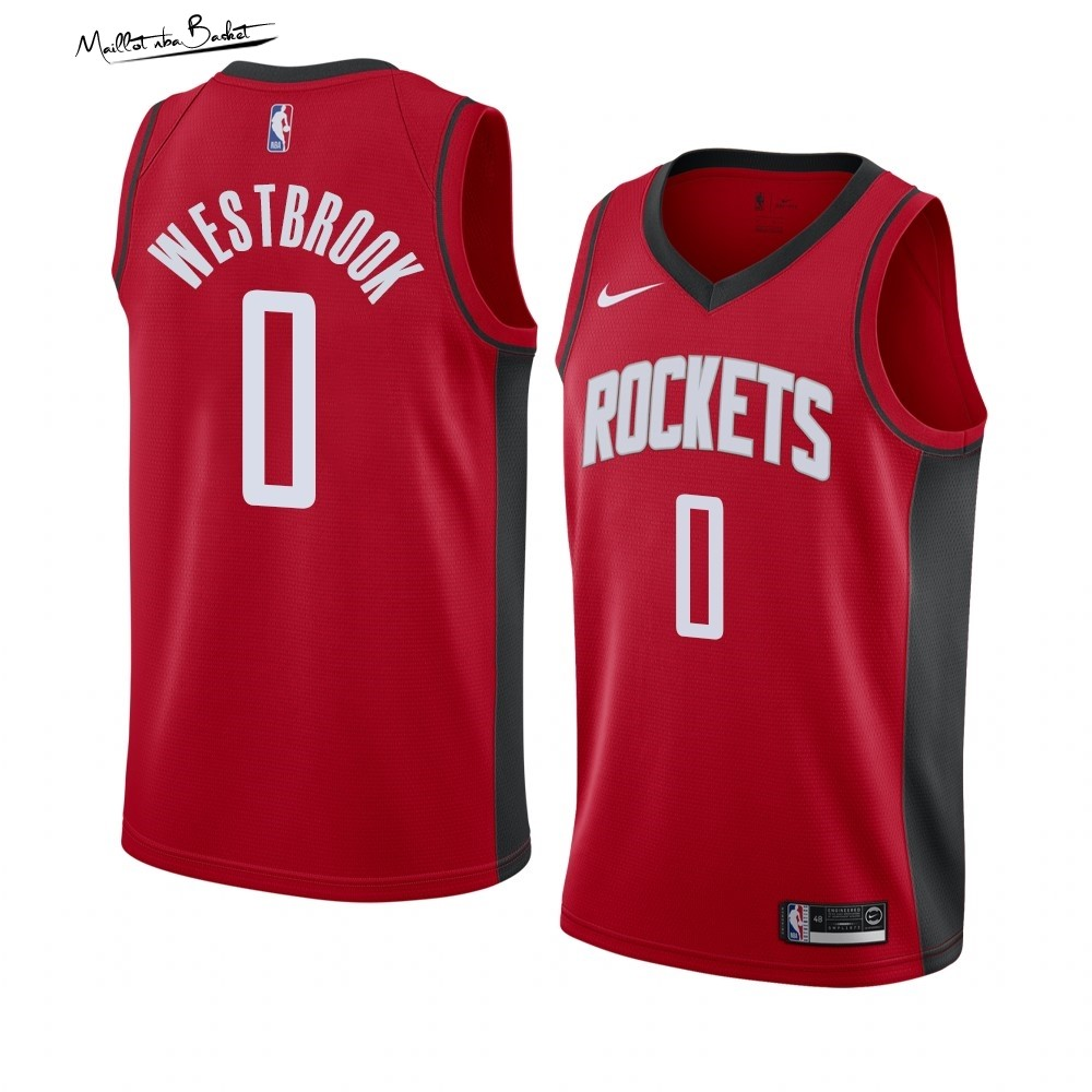 Maillot NBA Nike Houston Rockets NO.0 Russell Westbrook Rouge Icon 2019-20