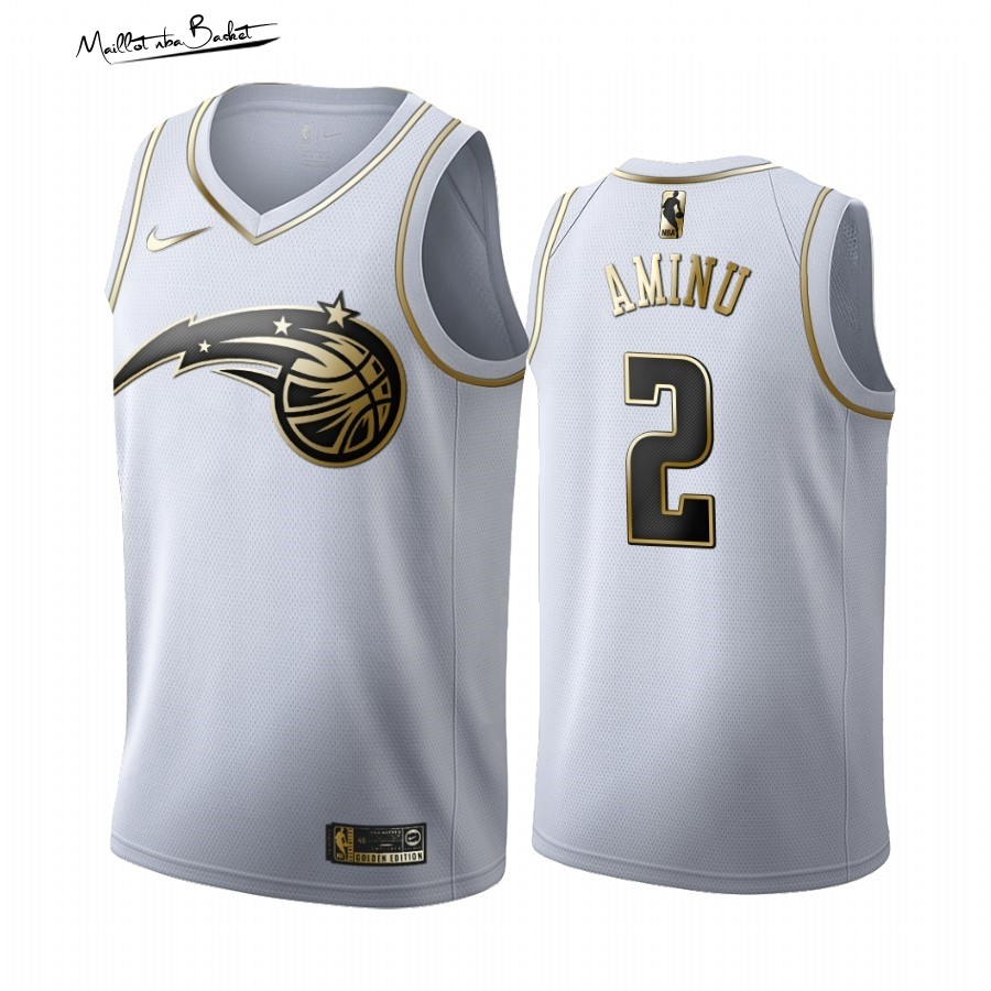 Maillot NBA Nike Orlando Magic NO.2 Al-Farouq Aminu Blanc Or 2019-20