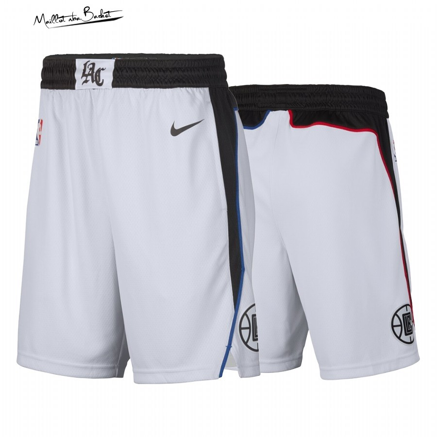 Short Basket Los Angeles Clippers Nike Blanc Ville 2019-20