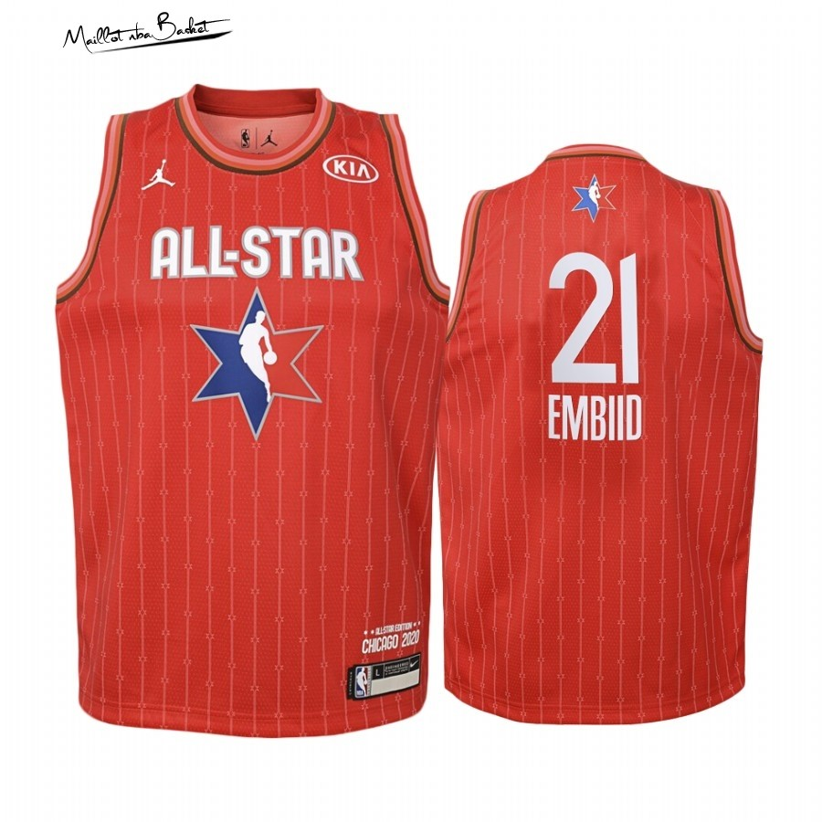 Maillot NBA Enfant 2020 All Star NO.21 Joel Embiid Rouge