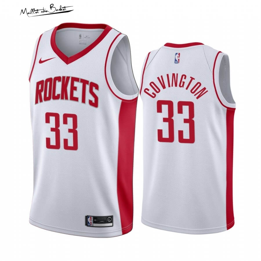 Maillot NBA Nike Houston Rockets NO.33 Robert Covington Blanc Association 2019-20