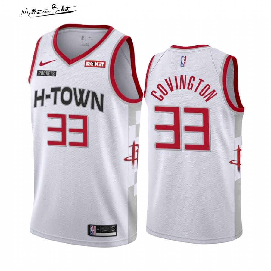 Maillot NBA Nike Houston Rockets NO.33 Robert Covington Nike Blanc Ville 2019-20