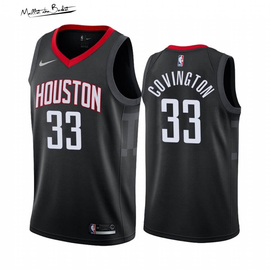 Maillot NBA Nike Houston Rockets NO.33 Robert Covington Noir Statement 2019-20