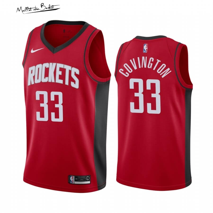 Maillot NBA Nike Houston Rockets NO.33 Robert Covington Rouge Icon 2019-20