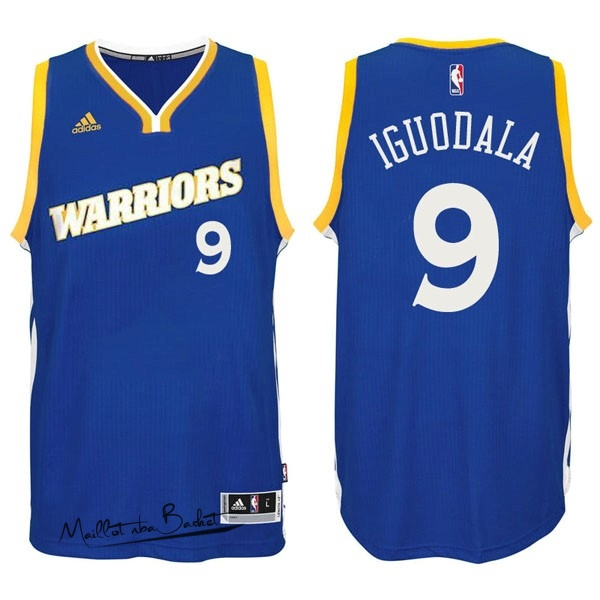 Maillot NBA Golden State Warriors NO.9 Andre Iguodala 2016-2017 Bleu