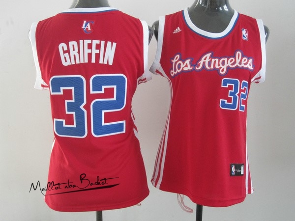 Maillot NBA Femme Los Angeles Clippers NO.32 Blake Griffin Rouge