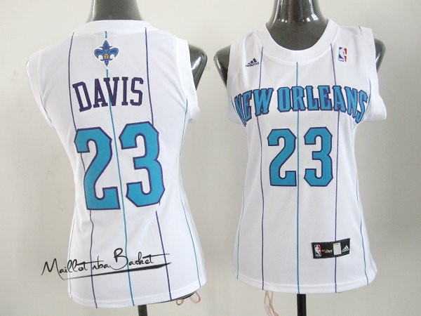 Maillot NBA Femme New Orleans Pelicans NO.23 Anthony Davis Blanc