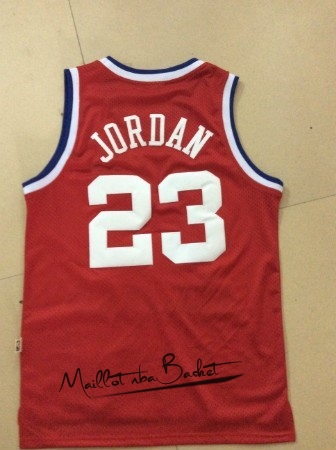 Maillot NBA 1989 All Star NO.23 Michael Jordan Rouge