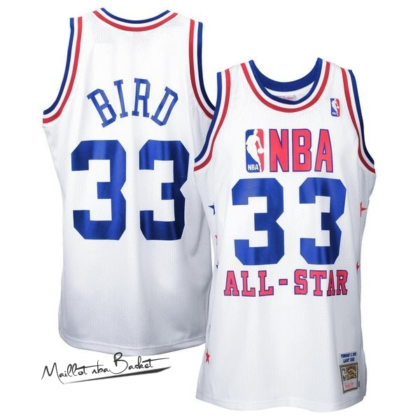 Maillot NBA 1990 All Star NO.33 Larry Joe Bird Blanc