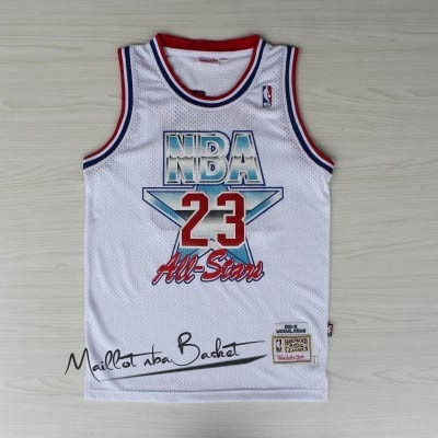 Maillot NBA 1992 All Star NO.23 Michael Jordan Blanc
