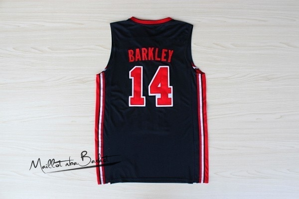 Maillot NBA 1992 USA NO.14 Barkley Noir