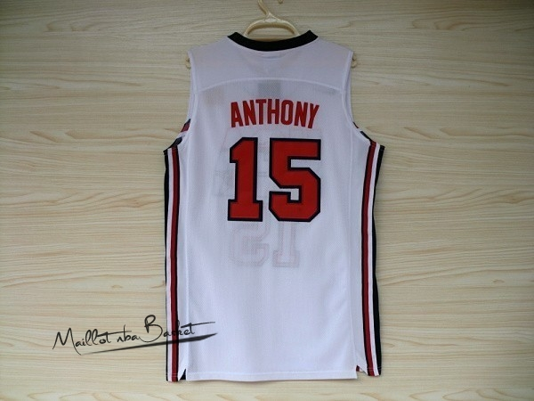 Maillot NBA 1992 USA NO.15 Anthony Blanc